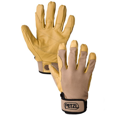Access Techniques Petzl Cordex Belay Glove -Tan - X-Small, small, medium, large and Xlarge